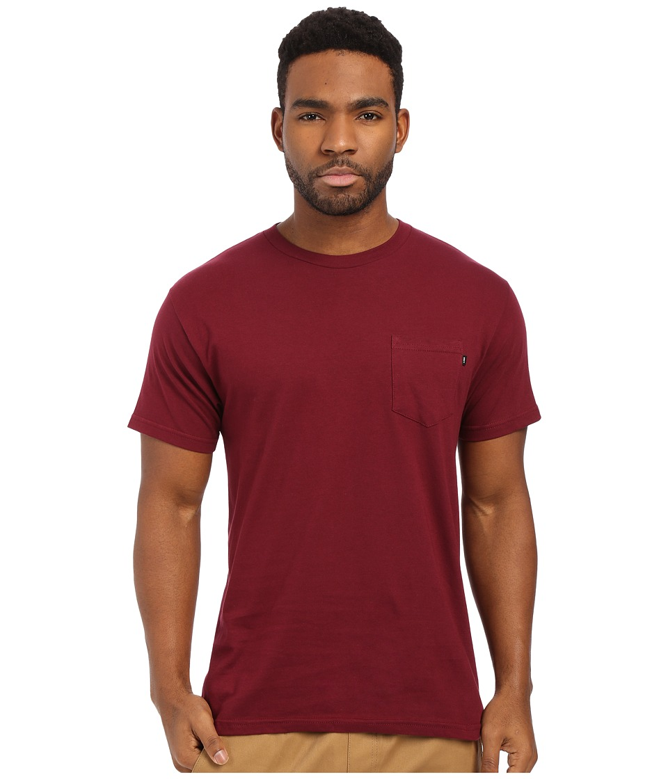 Obey - Premium Basic Pocket Tee (Burgundy) Men's Short Sleeve Pullover