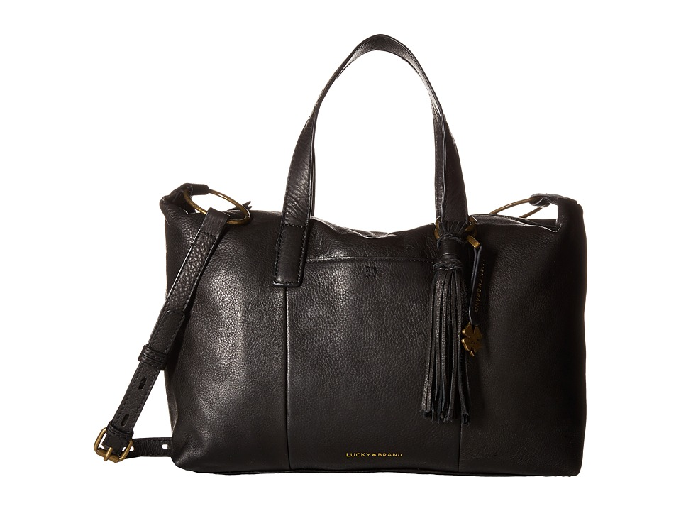 Lucky Brand - Athena Satchel Crossbody (Black) Satchel Handbags
