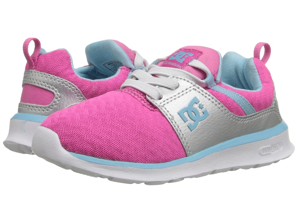 DC Kids - Heathrow (Toddler) (Pink/Silver) Girls Shoes