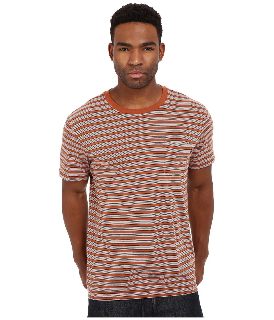 Obey County Pocket Tee (Burnt Sienna Multi) Men