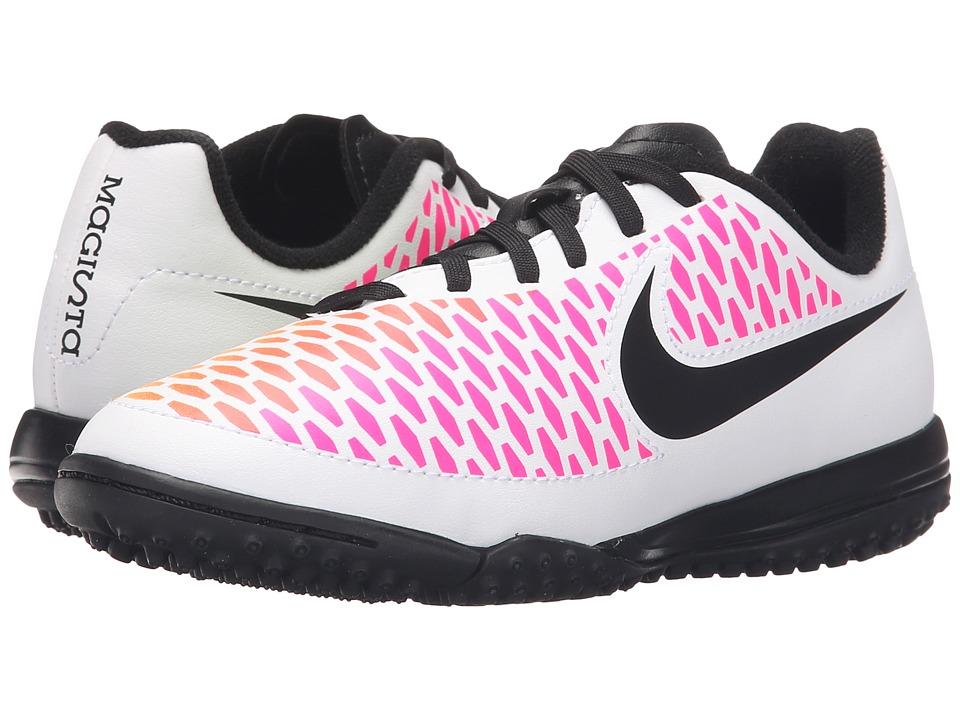 Nike Kids - Jr Magista Onda Turf Soccer (Toddler/Little Kid/Big Kid) (White/Pink Blast/Volt/Black) Kids Shoes