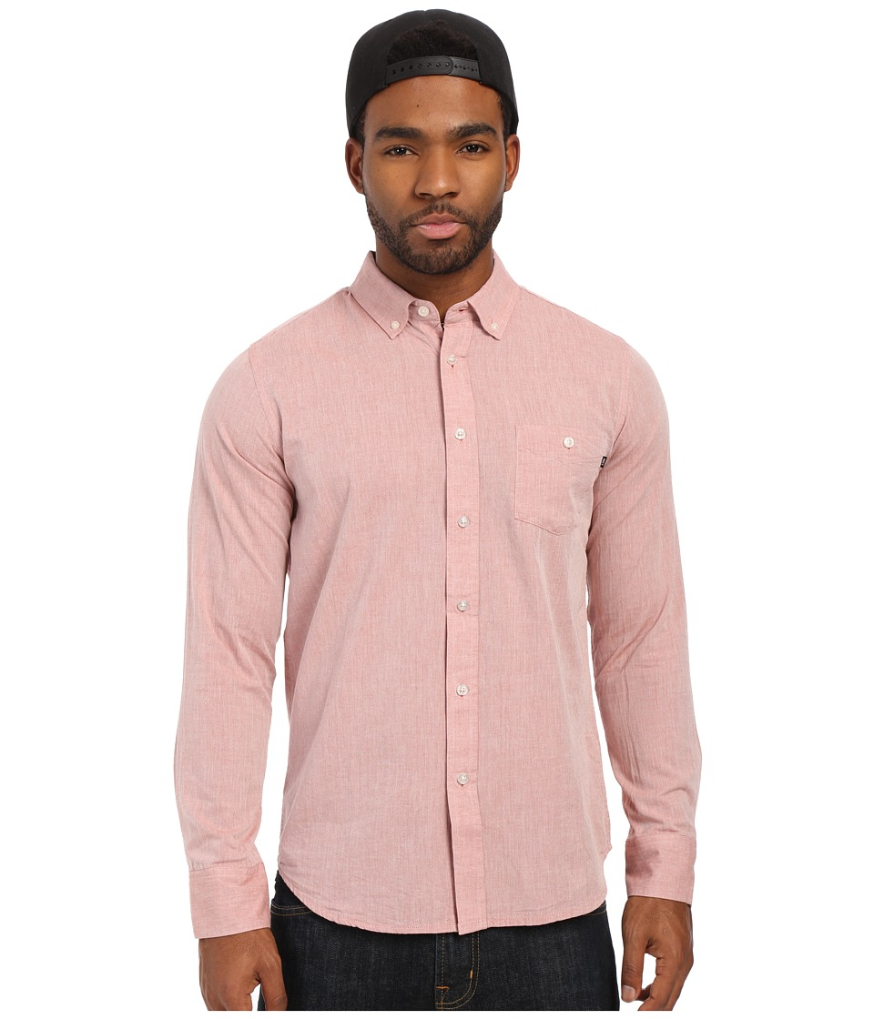 Obey - Capital Long Sleeve Woven Top (Picante) Men's Long Sleeve Button Up