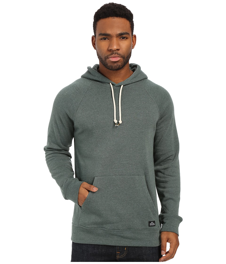 Obey - Lofty Creature Comforts Pullover Hood Sweatshirt (Heather Teal) Men's Sweatshirt