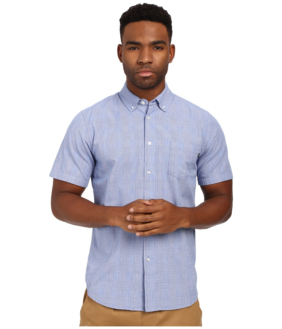 Obey - Murphy Woven Top (Blue Multi) Men's Short Sleeve Button Up