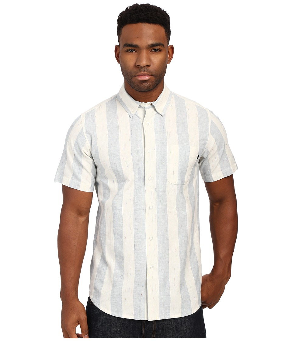 Obey - La Brea Short Sleeve Woven Top (Blue Multi) Men's Short Sleeve Button Up