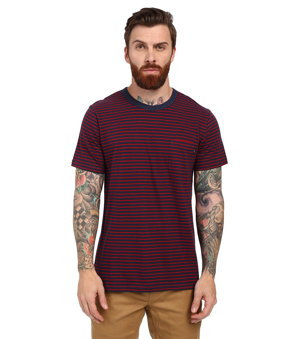 Obey - Richmond Pocket Tee (Red Multi) Men's Short Sleeve Pullover