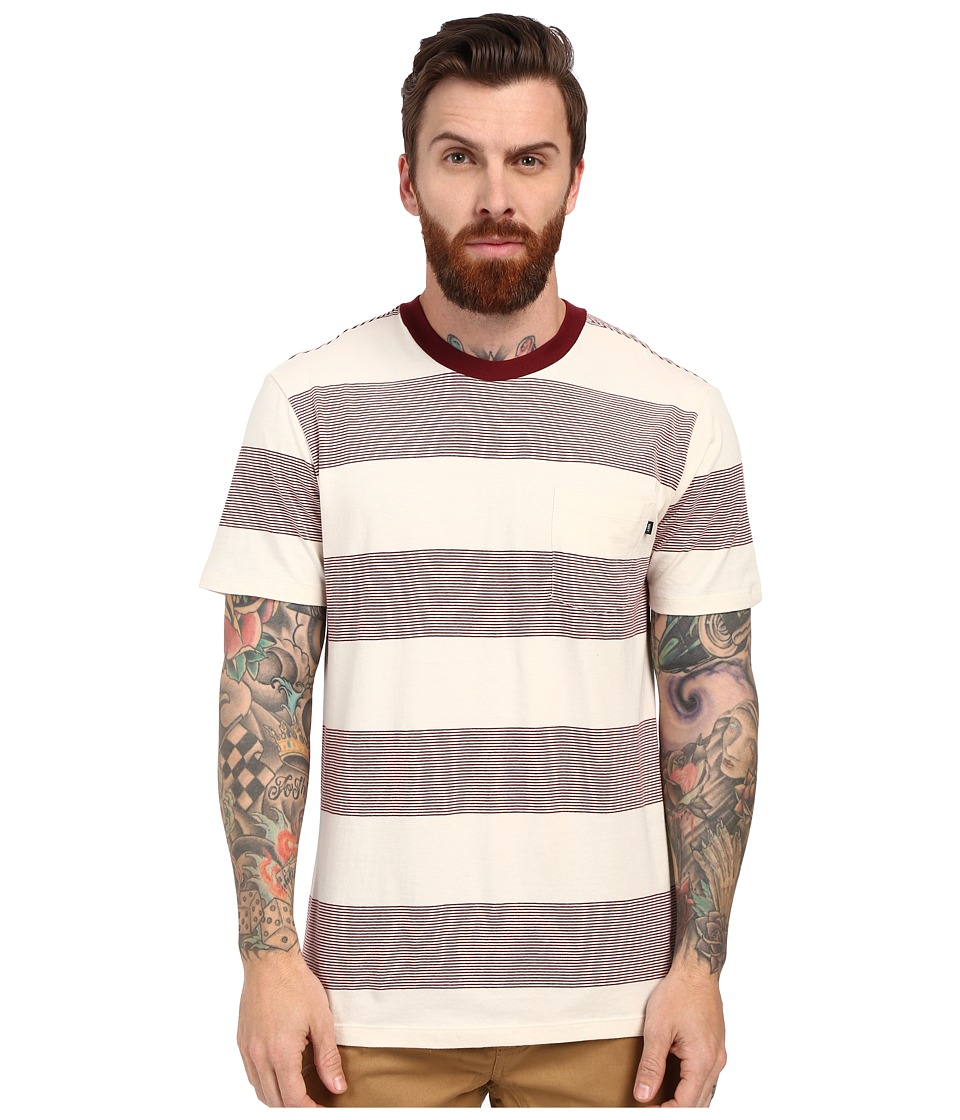 Obey - Wythe Pocket Tee (Burgundy Multi) Men