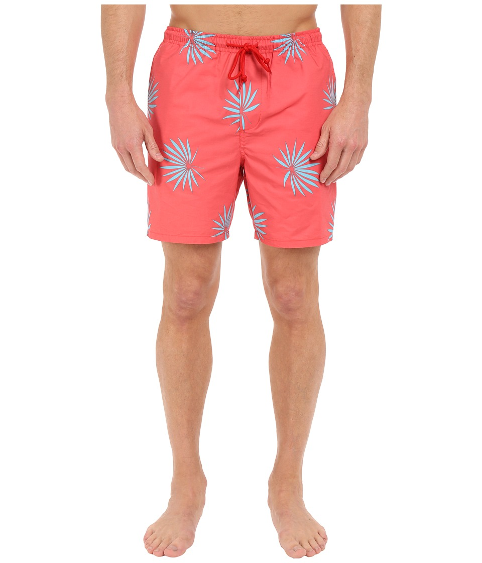 Obey - Palm Fan Street Trunks (Red Multi) Men's Swimwear