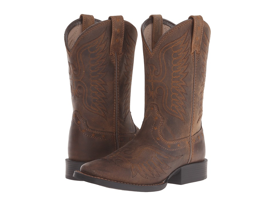 Ariat Kids - Honor (Toddler/Little Kid/Big Kid) (Distressed Brown) Cowboy Boots