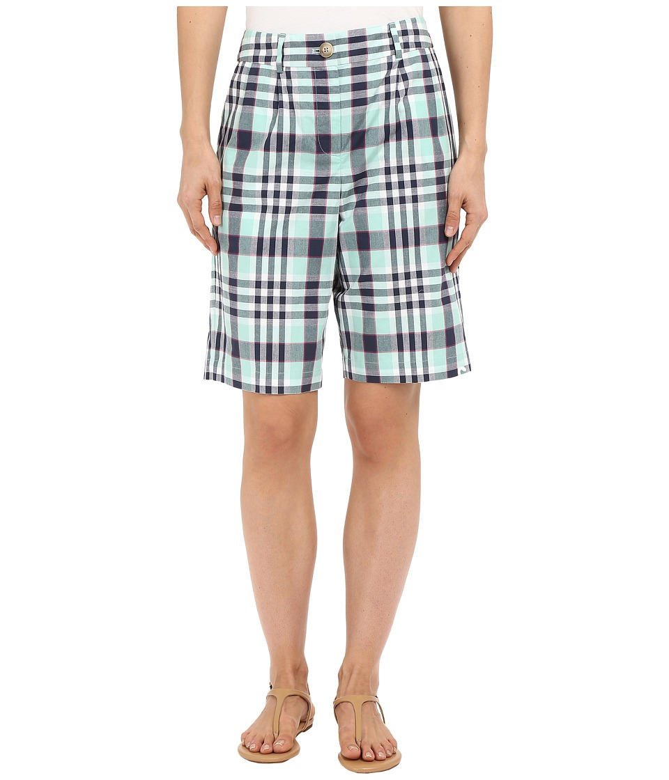 Pendleton - Bermuda Shorts (Ocean Wave Plaid) Women's Shorts plus size,  plus size fashion plus size appare