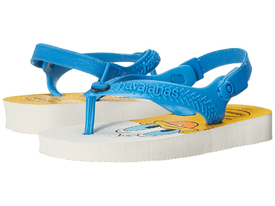 Havaianas Kids - Disney Classics (Toddler) (White/Turquoise) Boys Shoes