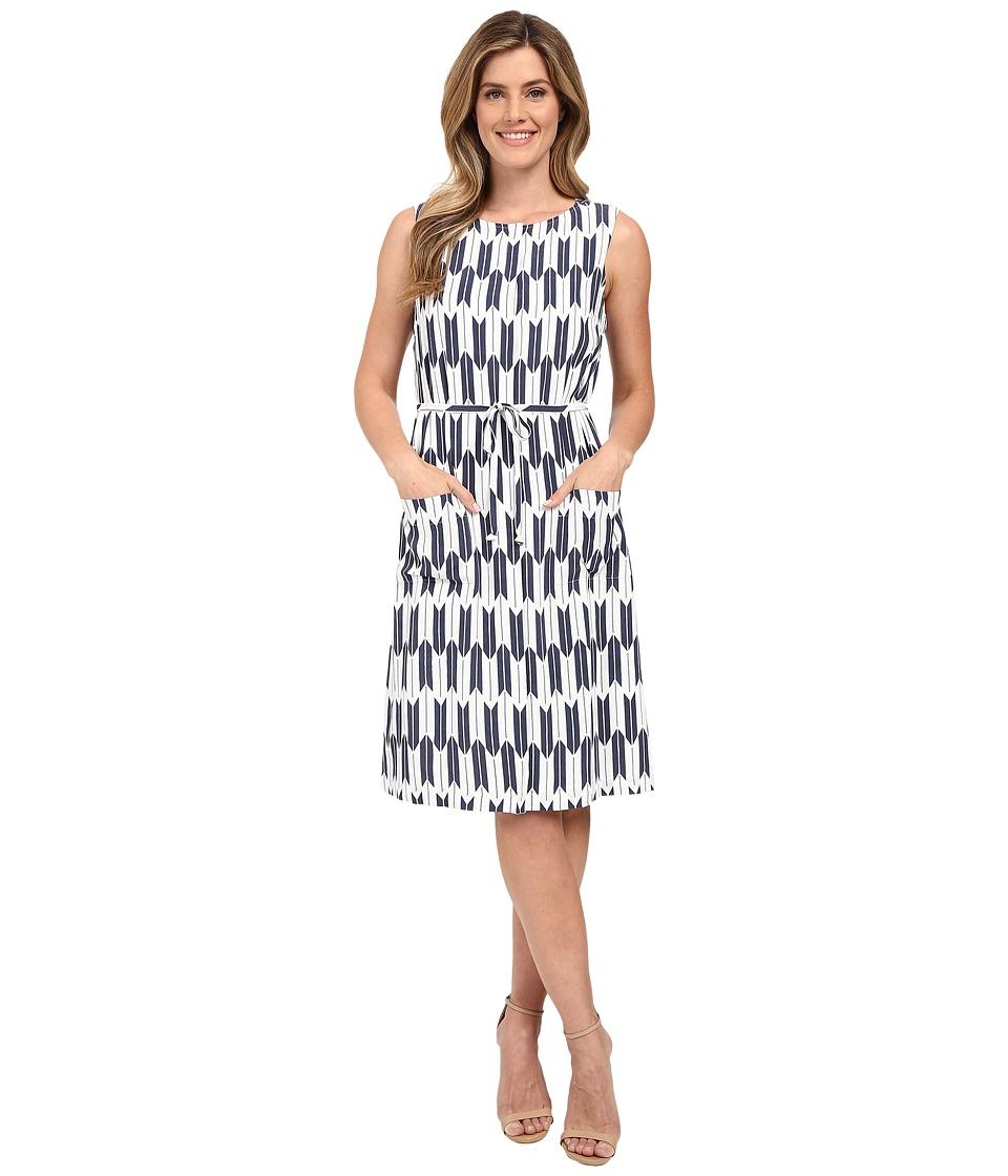 Pendleton - Flora Dress (Indigo Arrow Stripe Print) Women's Dress