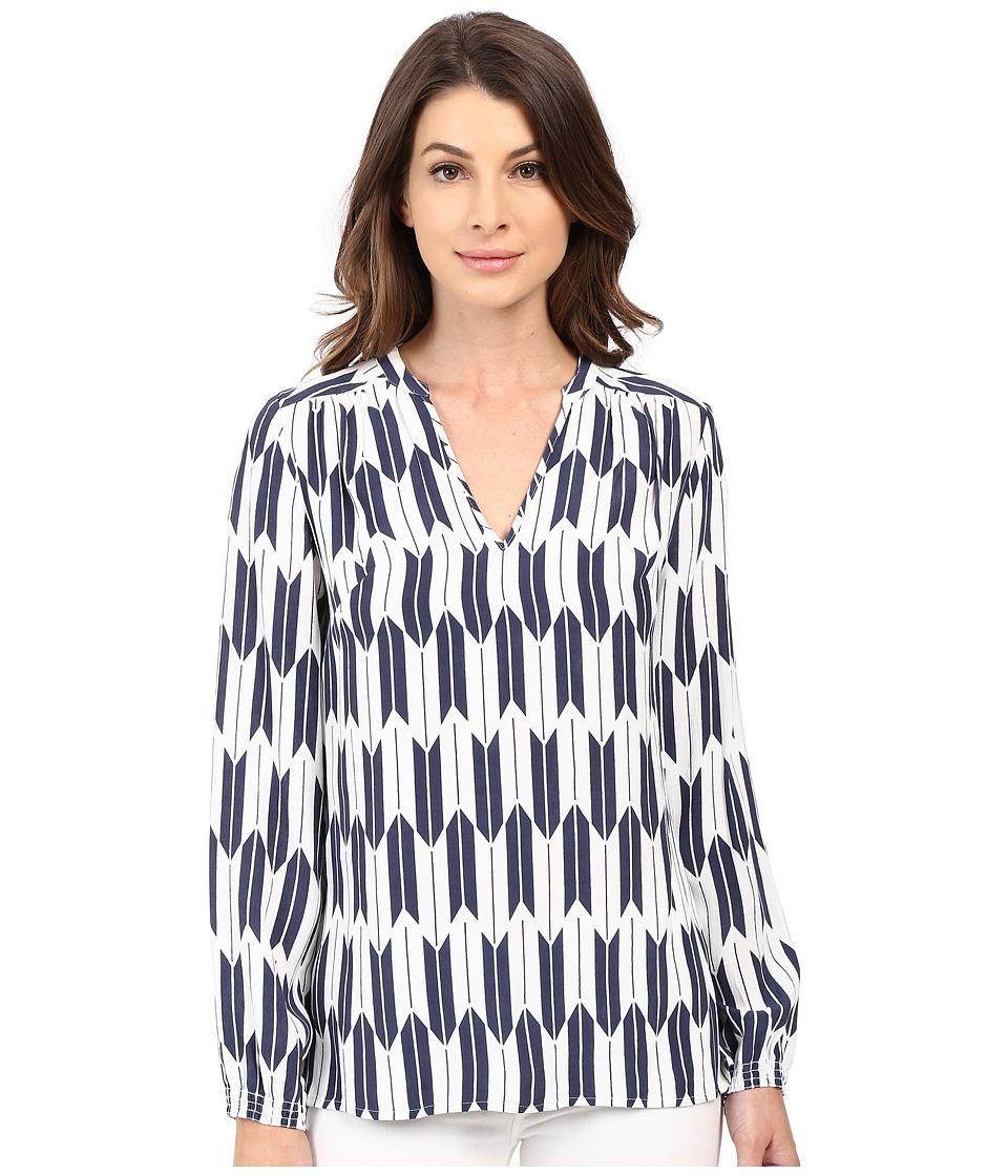 Pendleton - Terra Tunic (Indigo Arrow Stripe Print) Women's Blouse
