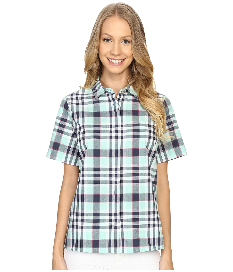 Pendleton - Bermuda Shirt (Ocean Wave Plaid) Women's Short Sleeve Pullover