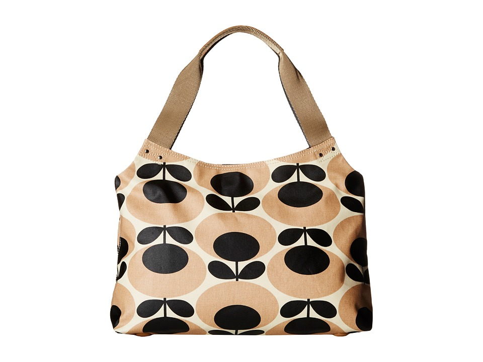 Orla Kiely - Classic Zip Shoulder Bag (Nude) Shoulder Handbags