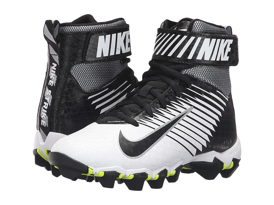 Nike Kids - Lunarbeast Shark BG Football (Toddler/Little Kid/Big Kid) (White/Black/Black) Kids Shoes