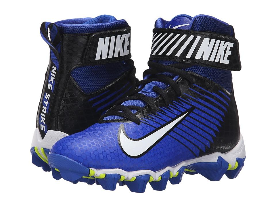 Nike Kids - Lunarbeast Shark BG Football (Toddler/Little Kid/Big Kid) (Racer Blue/Black/White) Kids Shoes