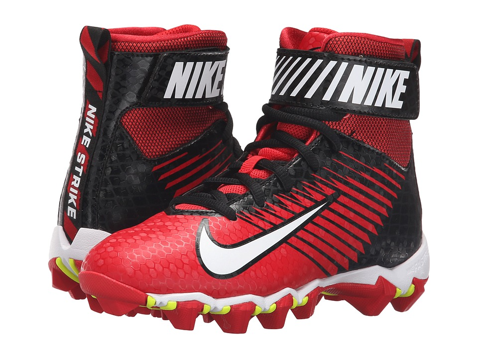 Nike Kids - Lunarbeast Shark BG Football (Toddler/Little Kid/Big Kid) (University Red/Black/White) Kids Shoes