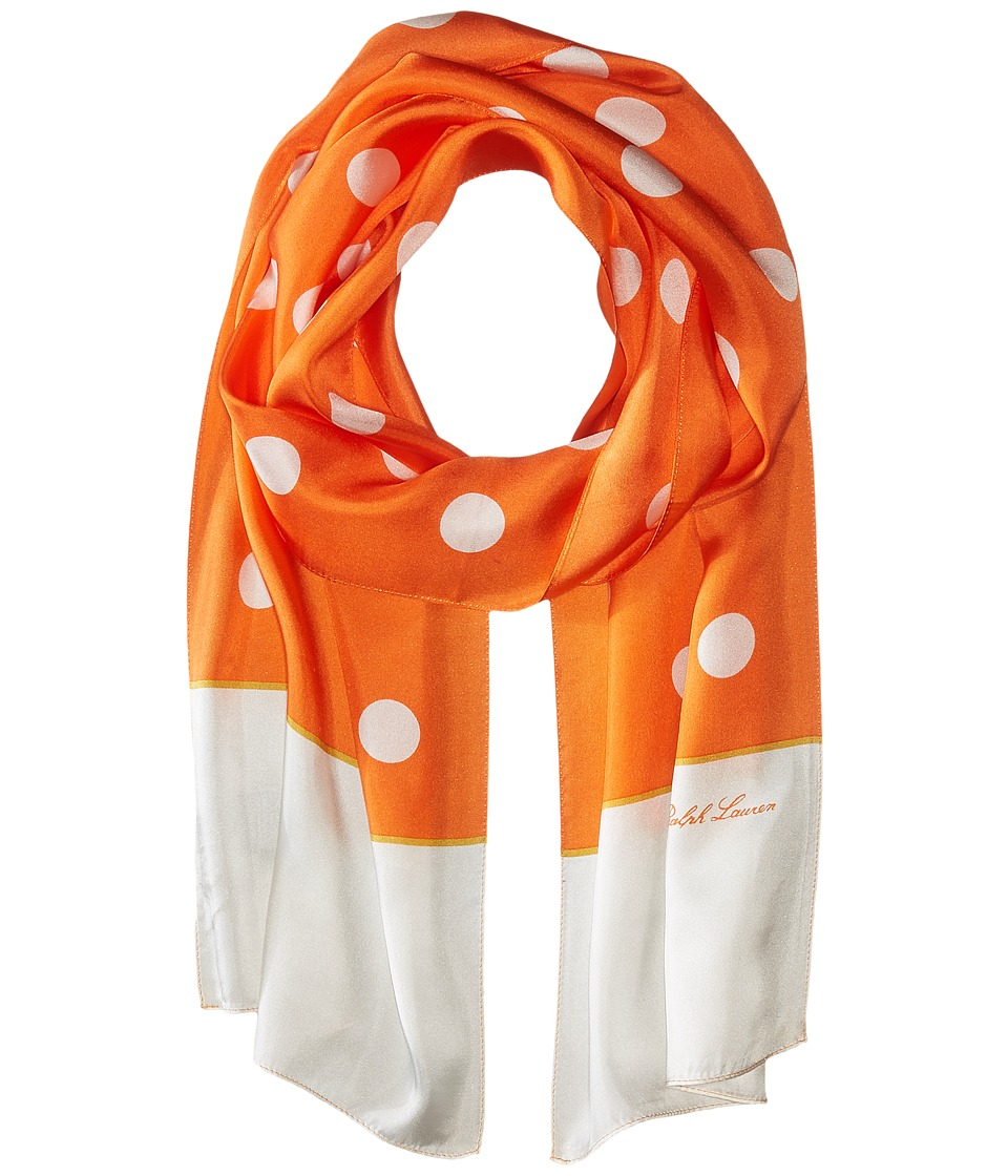 LAUREN Ralph Lauren - Ralph Scarf (Tropical Orange) Scarves