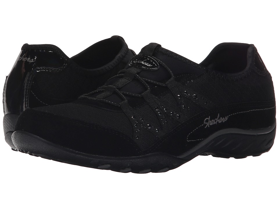 SKECHERS - Breathe Easy - Glimmered Up (Black) Women's Walking Shoes