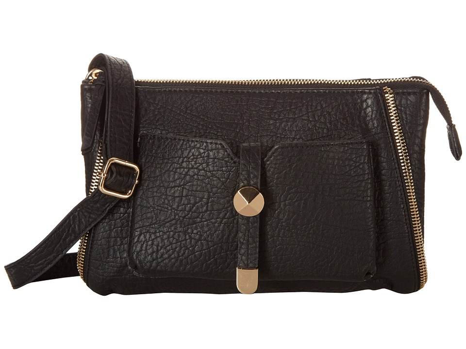 Jessica Simpson - Sienna Top Zip Crossbody (Black) Cross Body Handbags