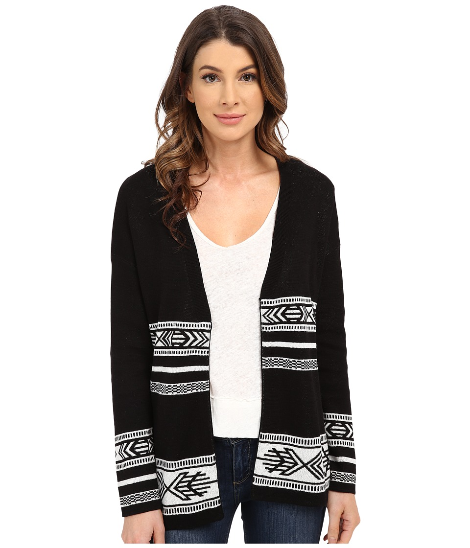 Pendleton - Quinn Cardigan (Black/Ivory) Women's Sweater