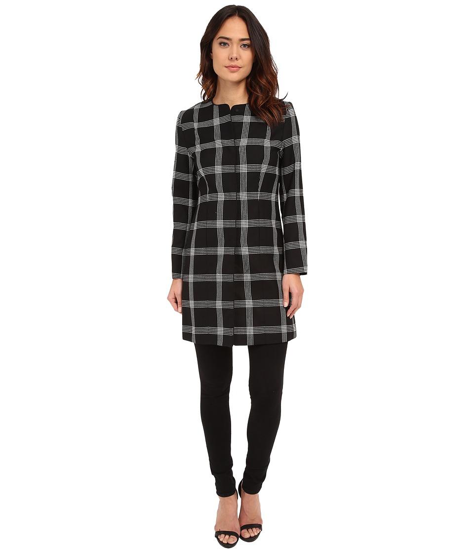 Pendleton - Chelsea Jacket (Black/Ivory Windowpane) Women's Coat