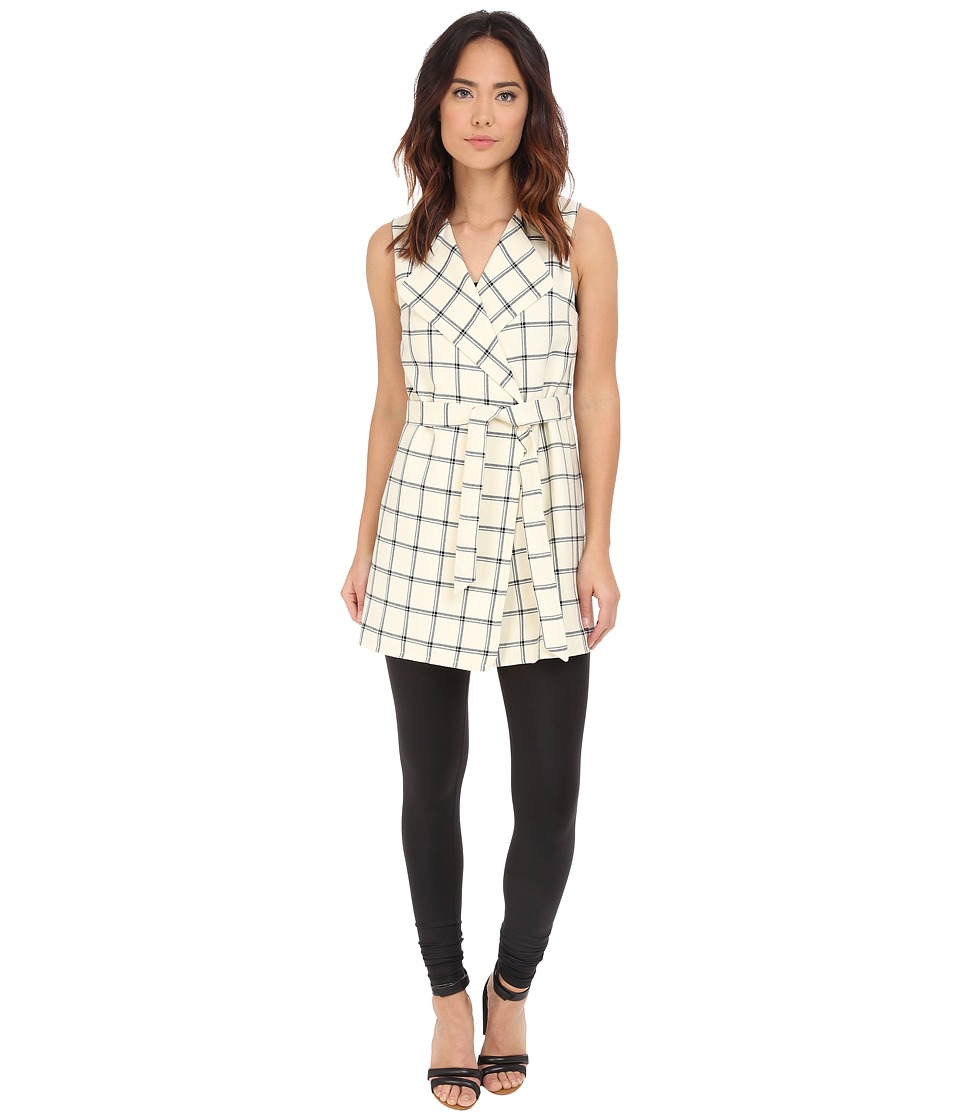 Pendleton - Darcy Sleeveless Jacket (Ivory/Black Windowpane) Women's Vest