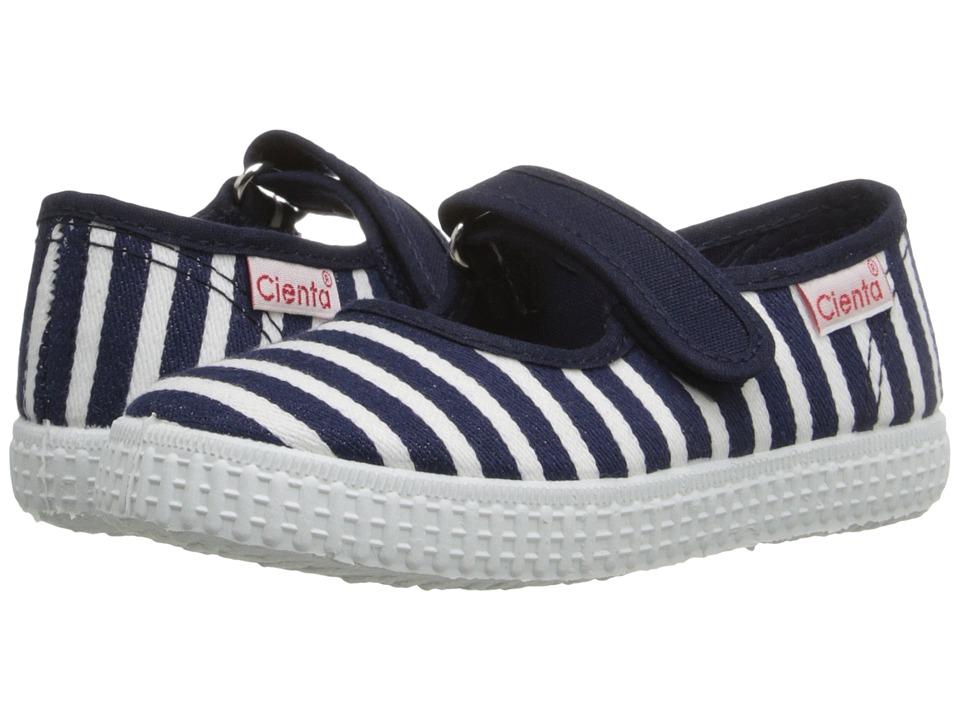 Cienta Kids Shoes - 56095 (Infant/Toddler/Little Kid/Big Kid) (Navy) Girl's Shoes