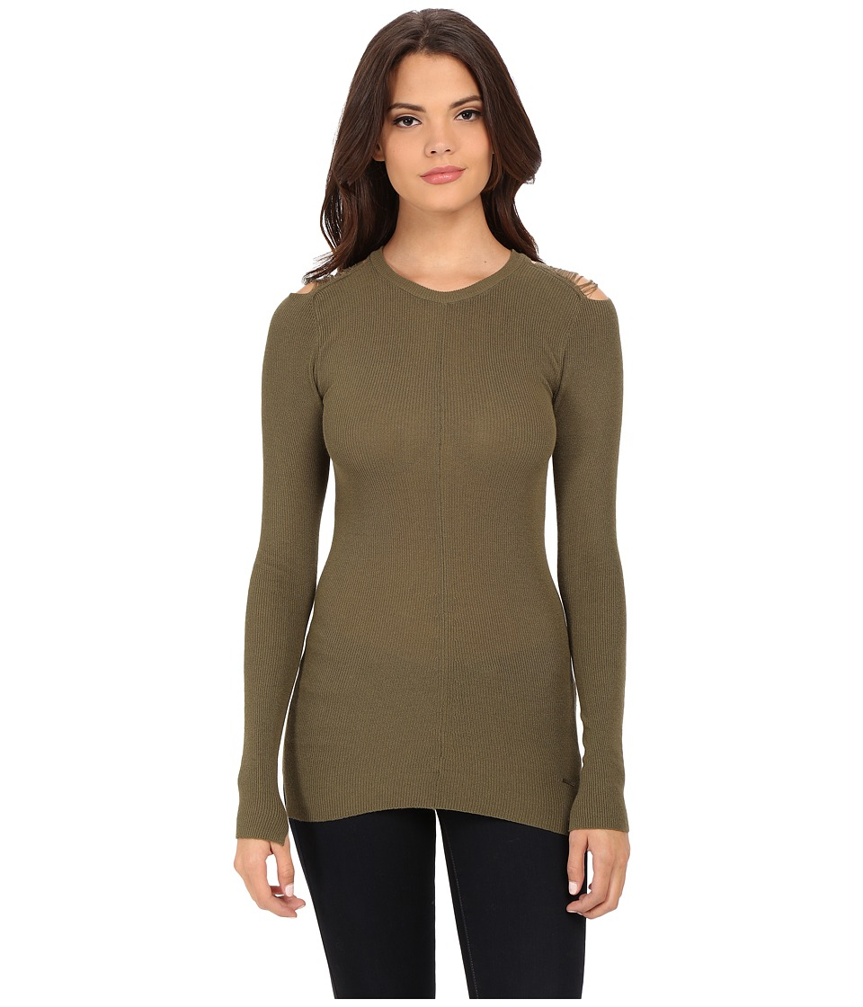 Diesel - M-Jets Pullover (Olive/Green) Women's Clothing