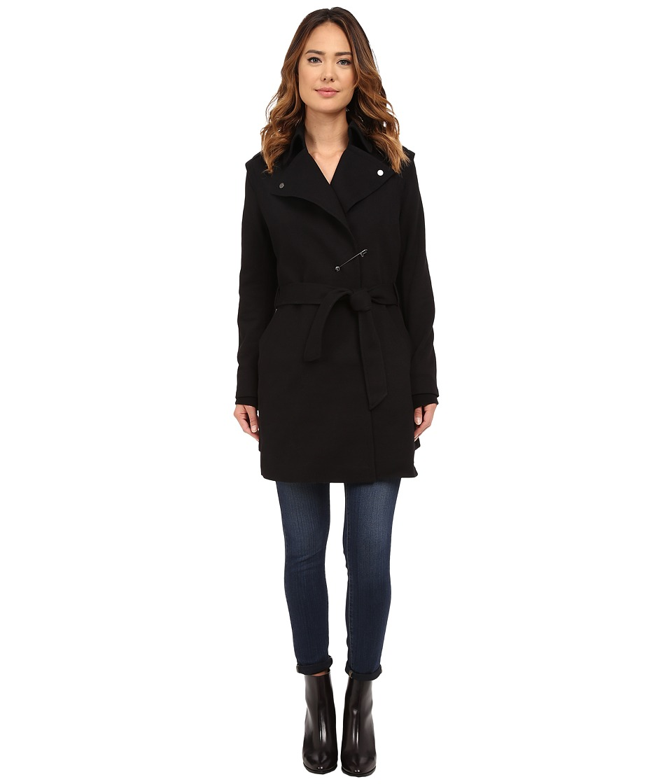 Diesel - W-Ain Overcoat (Black) Women's Coat