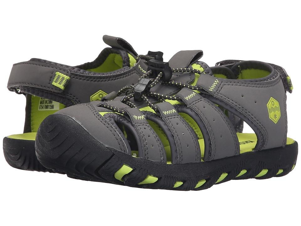 Khombu Kids - Cheeky (Little Kid/Big Kid) (Grey/Lime) Boy's Shoes
