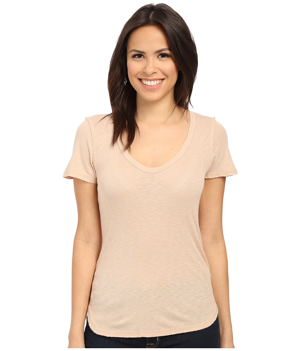 Michael Stars Slub Short Sleeve Tee with Raw Edges (Squirrel) Women