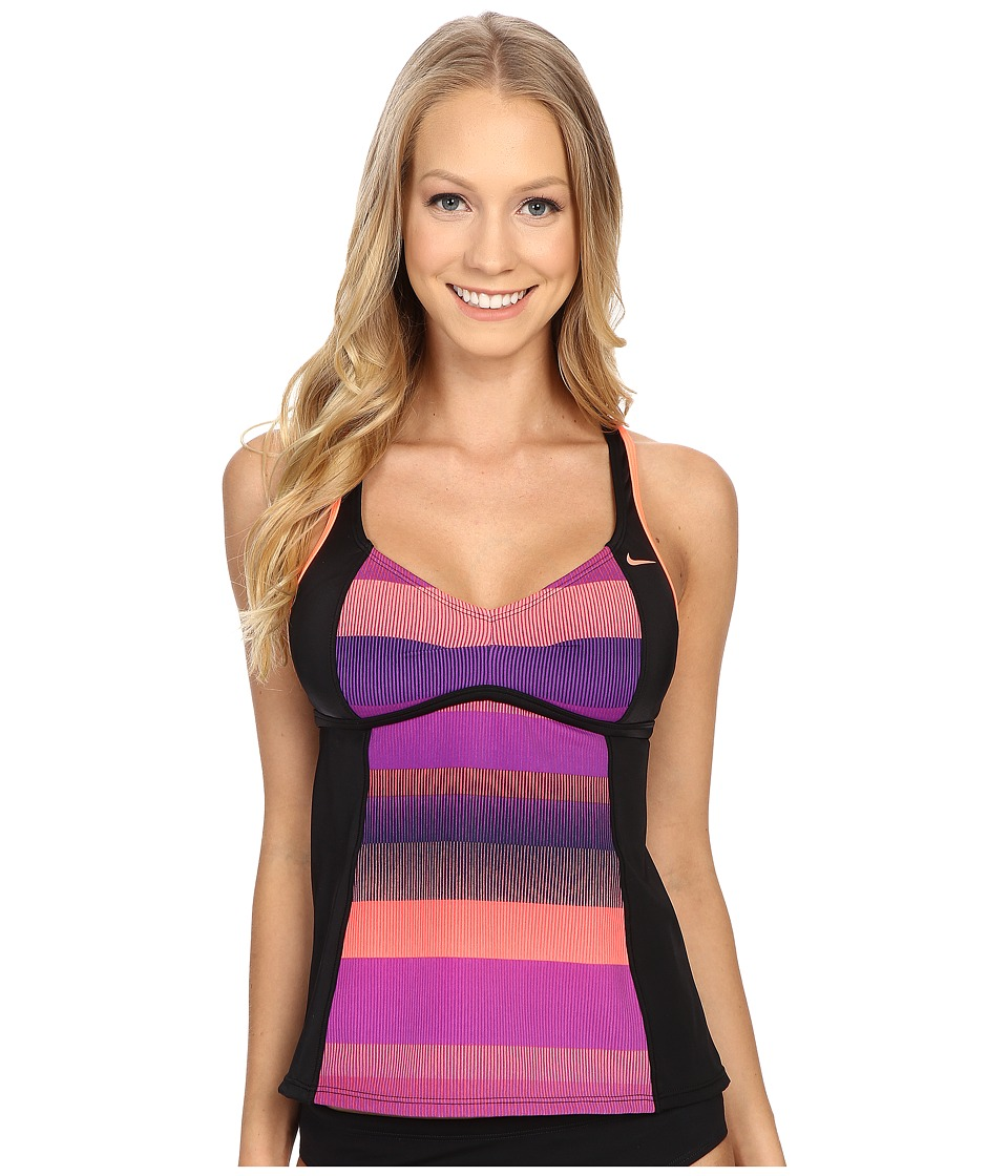Nike - Optic Shift V-Back Tankini (Bright Mango) Women's Swimwear