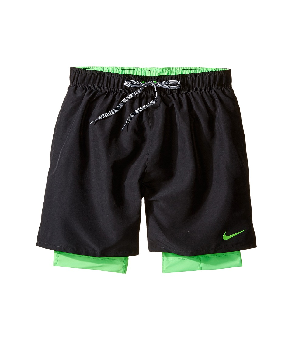 Nike - 2-in-1 Trainer (Black) Men's Swimwear