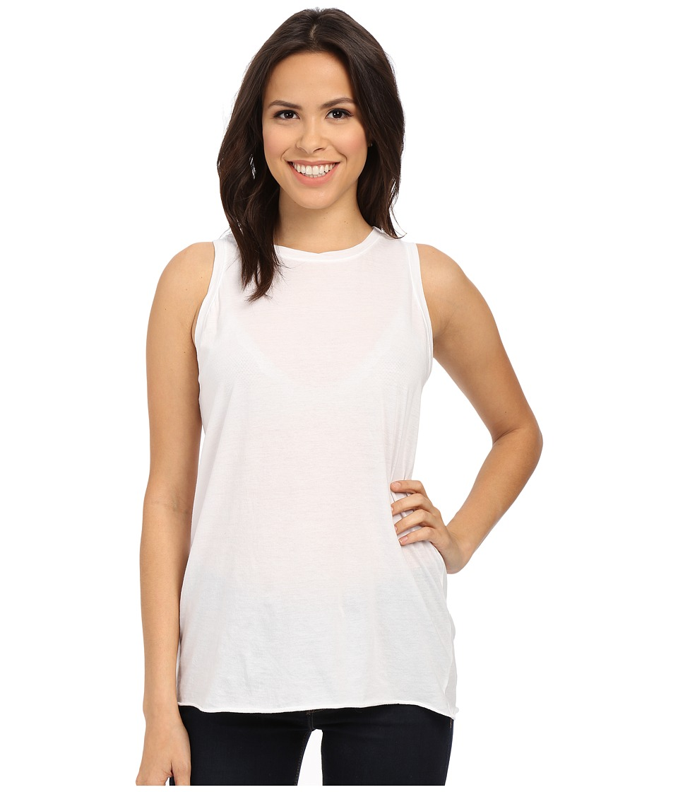 Michael Stars - Sleeveless Crew Neck Shell Beautiful Tee (White) Women