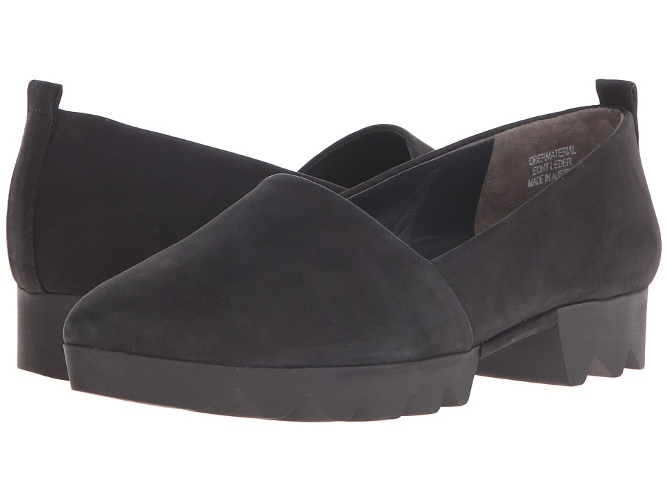 Paul Green - Hailey Loafer (Black Leather) Women's Slip on Shoes