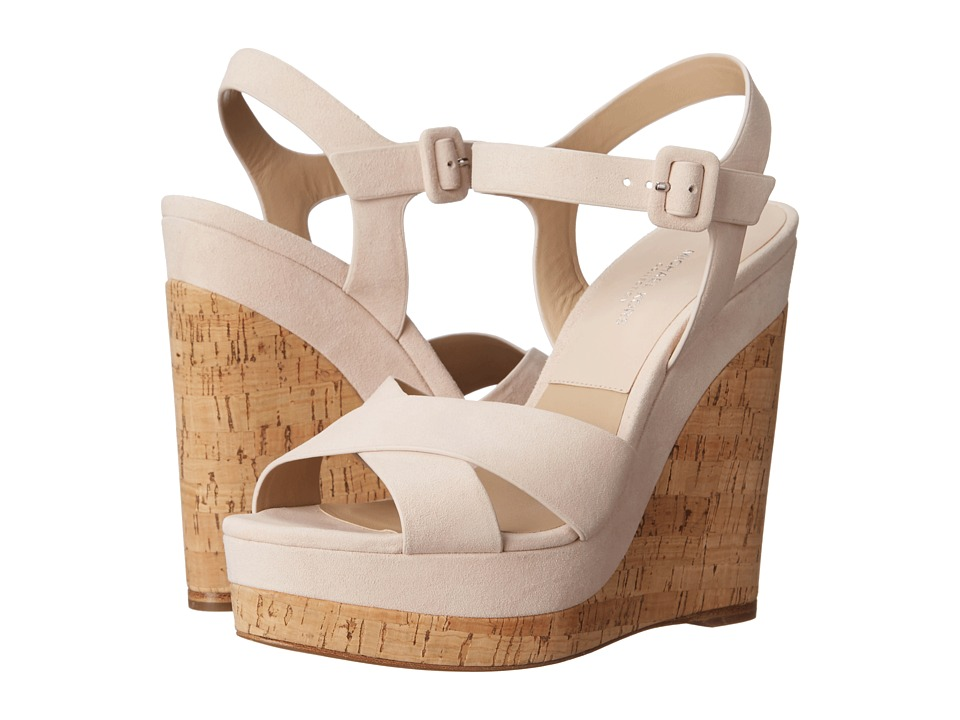 Michael Kors - Cate (Ballet Kid Suede/Cork) Women's Wedge Shoes