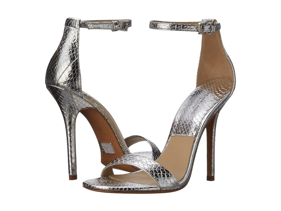Michael Kors Jacqueine Runway (Silver Specchio Genuine Snake) High Heels