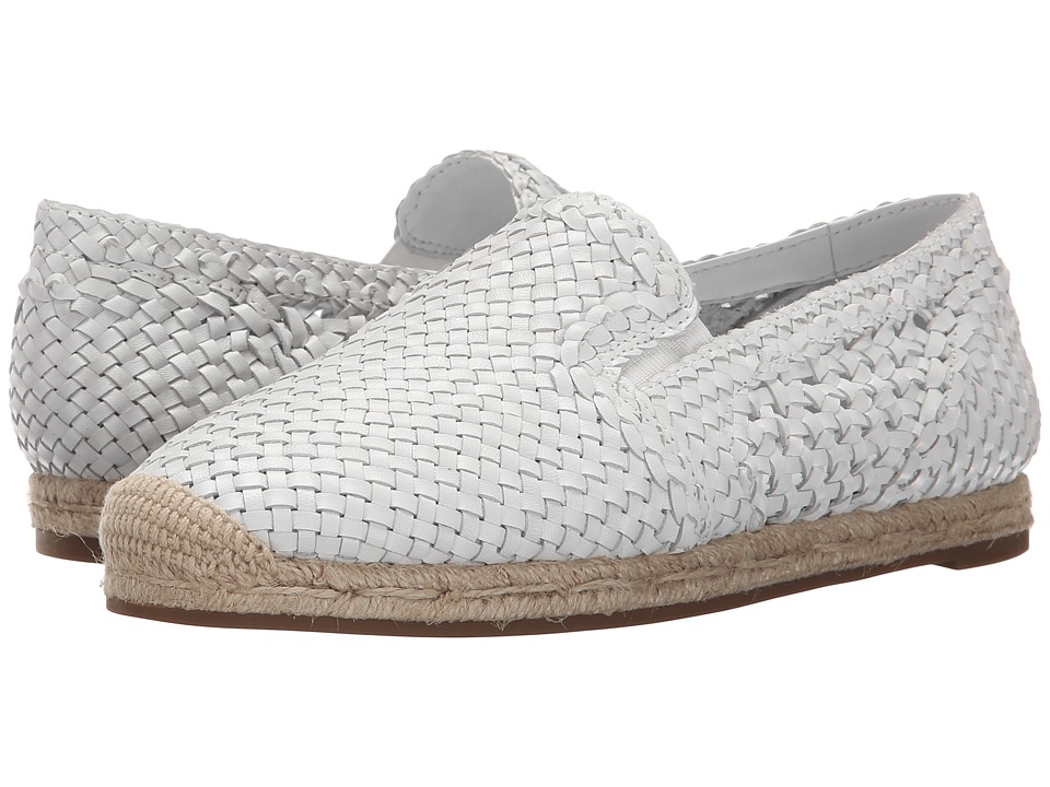 Michael Kors - Toni (Optic White Woven Smooth Calf) Women's Slip on Shoes