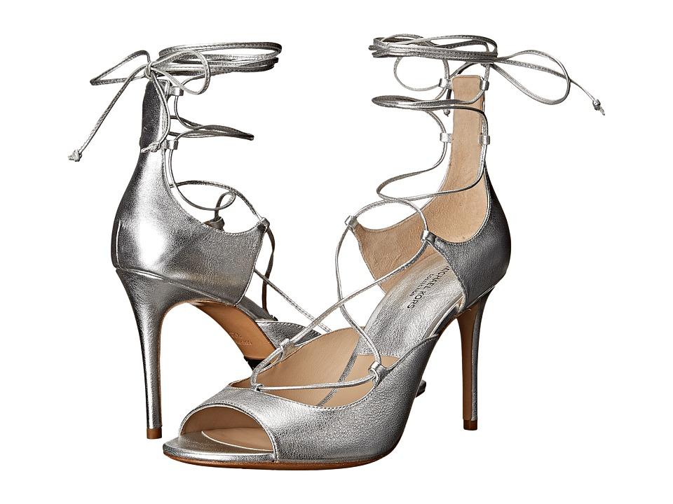 Michael Kors Valerie (Silver Metallic Nappa) High Heels