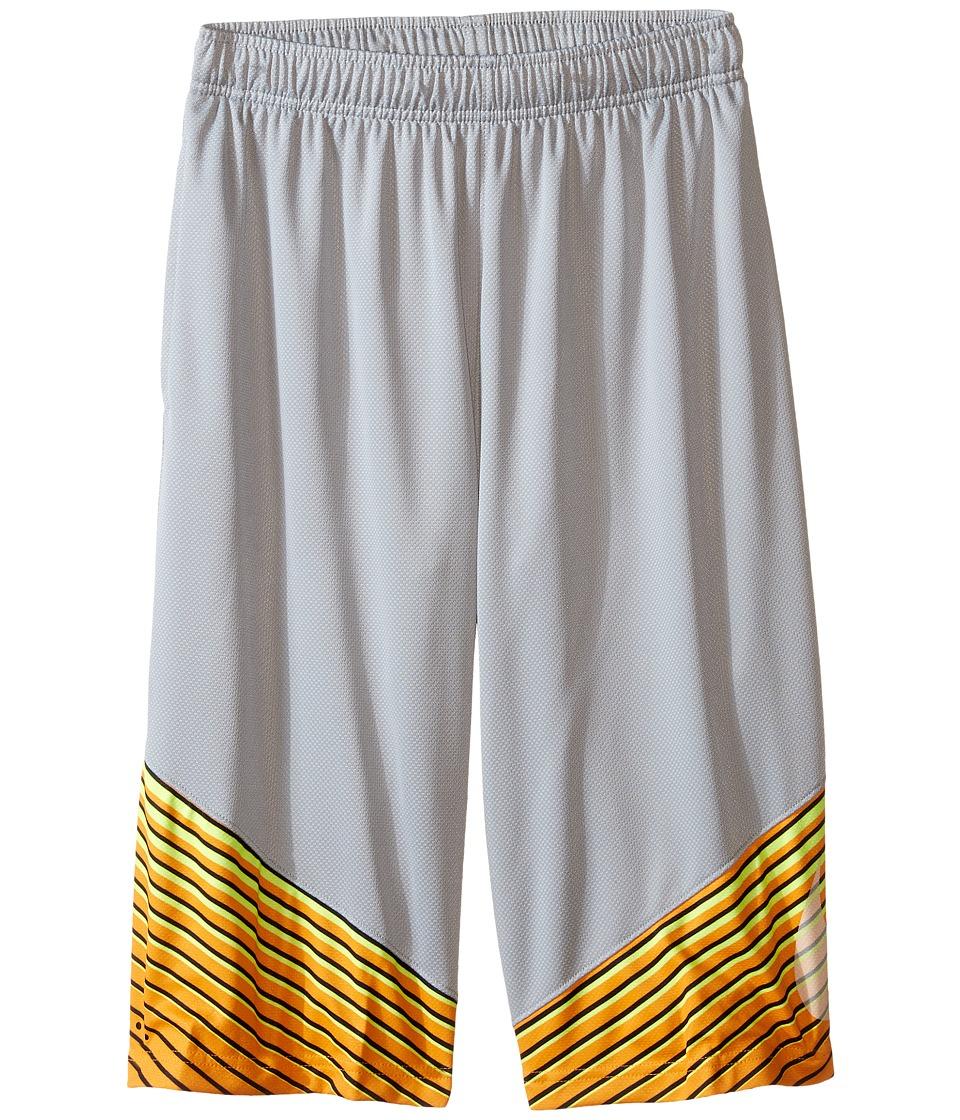 Nike Kids - Elite Performance Basketball Short (Little Kids/Big Kids) (Wolf Grey/Vivid Orange/Metallic Silver) Boy's Shorts