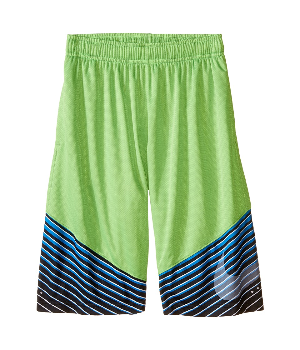 Nike Kids - Elite Performance Basketball Short (Little Kids/Big Kids) (Action Green/Black/Metallic Silver) Boy's Shorts