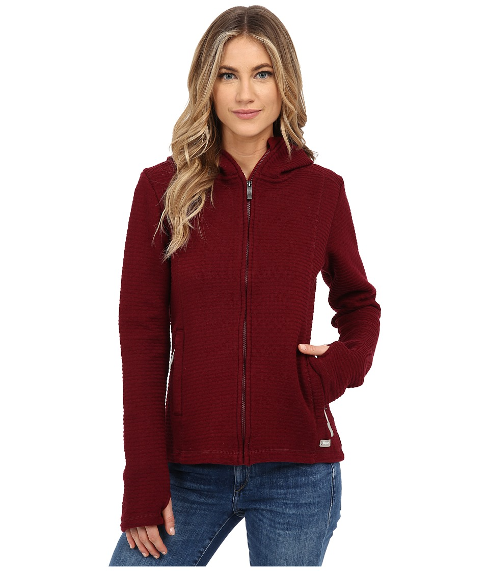 Bench - Dearby 11 Short Slim Hoodie (Zinfandel) Women's Sweatshirt
