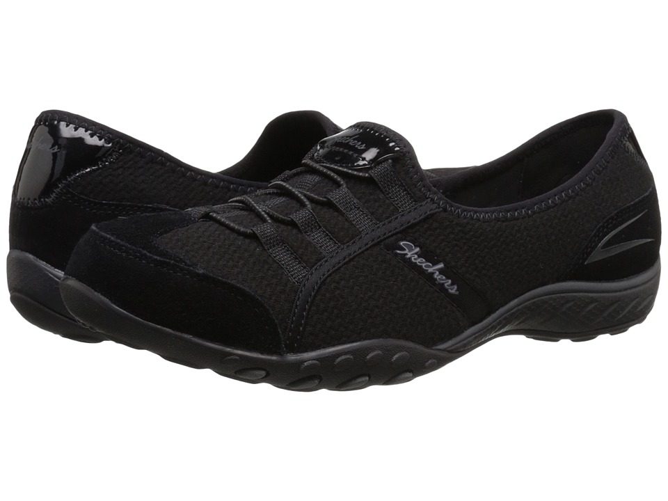 SKECHERS - Breathe Easy - Stealing Glances (Black) Women's Slip on Shoes