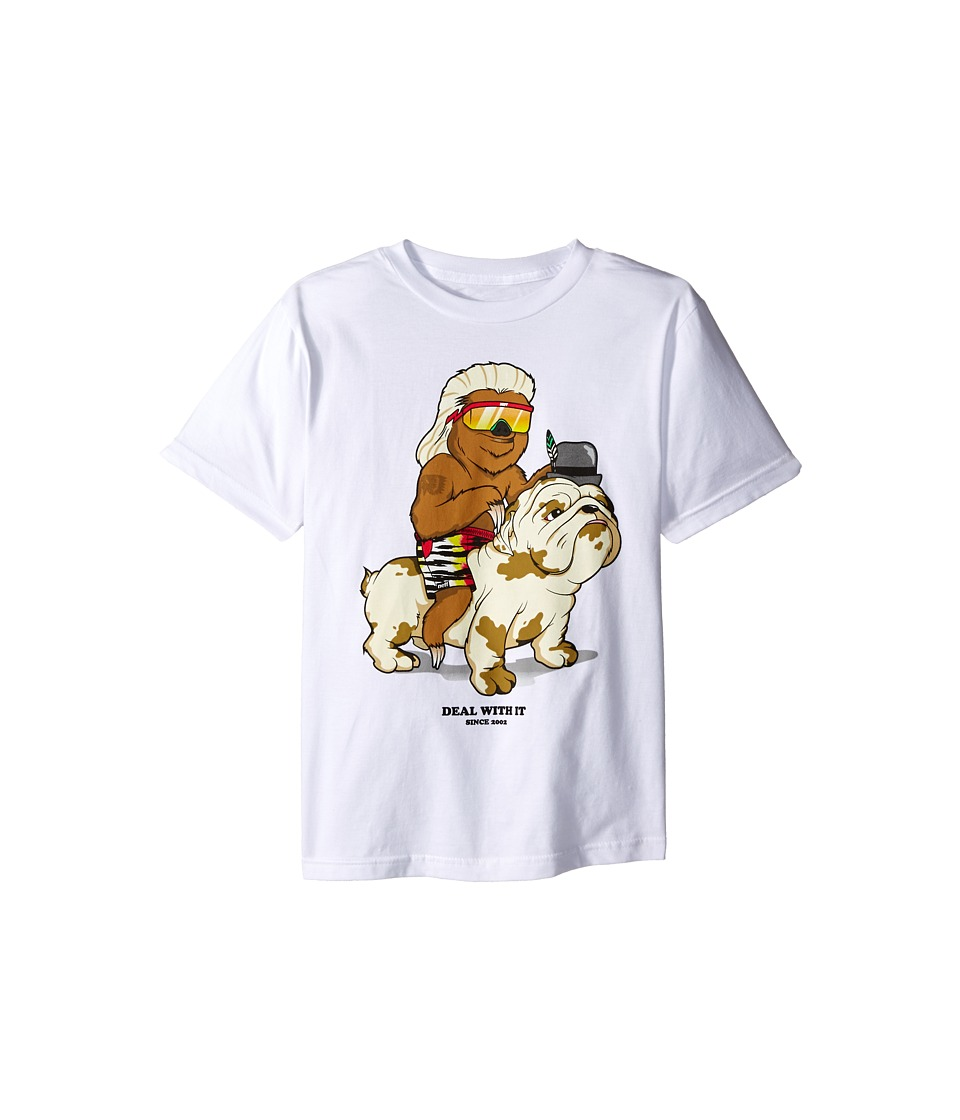 Neff Kids - Deal with It Tee (Big Kids) (White) Boy's T Shirt