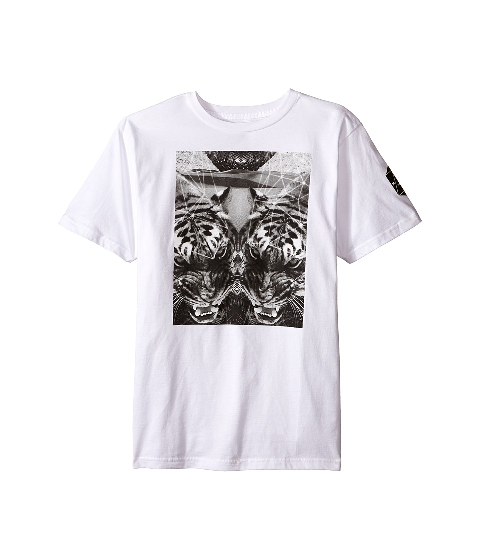 Neff Kids - Battlekat Tee (Big Kids) (White) Boy's T Shirt