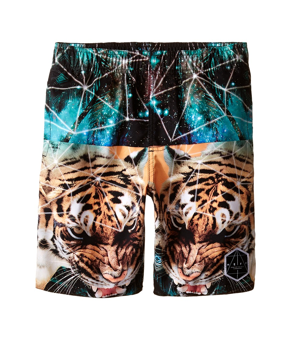 Neff Kids - Battlekat Hot Tub Shorts (Big Kids) (Multi) Boy's Swimwear