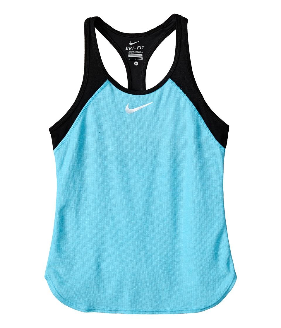 Nike Kids - Court Slam Tennis Tank Top (Little Kids/Big Kids) (Omega Blue/Black/White) Girl's Sleeveless
