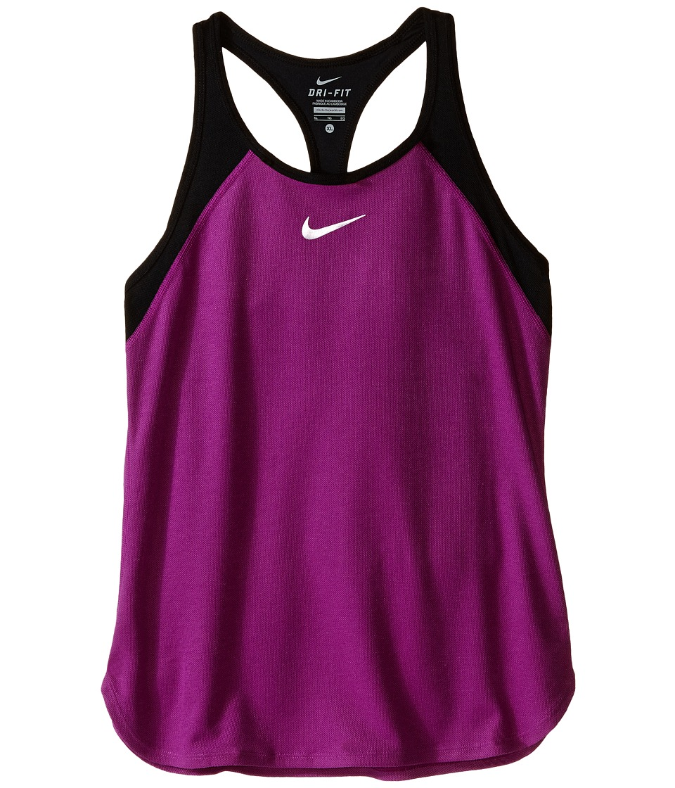 Nike Kids - Court Slam Tennis Tank Top (Little Kids/Big Kids) (Cosmic Purple/Black/White) Girl's Sleeveless